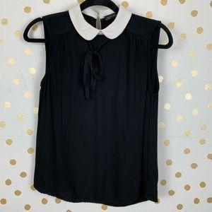 Zara Sleeveless Collared Shirt